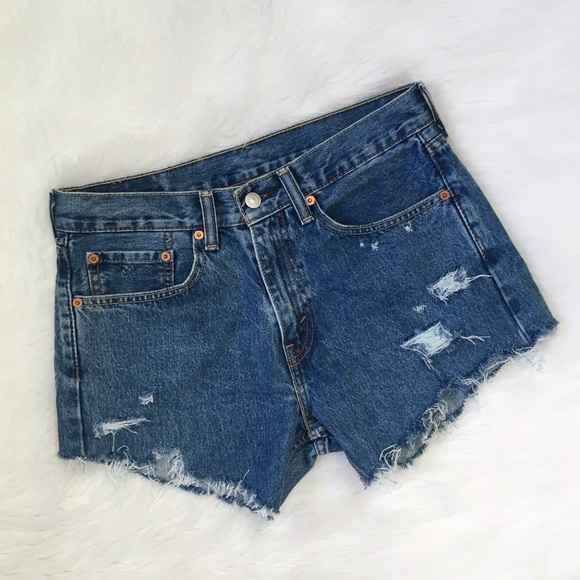 Levi's Pants - Levi's Distressed High Waisted Cut Off Jean Shorts